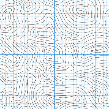Topographic map of the terrain as contour. Seamless pattern. Background for geographical map. Vector illustration 일러스트