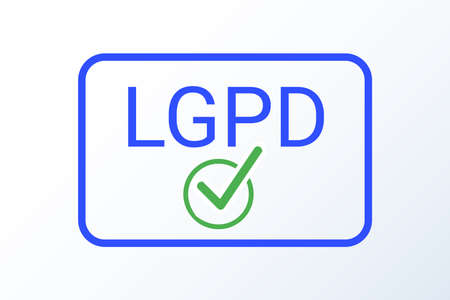 LGPD - Brazilian Data Protection Authority DPA, rights under the Lei Geral de Prote o de Dados - Spanish . Vector icon 일러스트