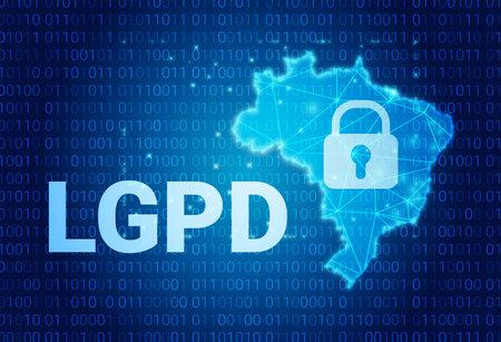 LGPD - Brazilian Data Protection Authority DPA on a map