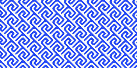 Abstract of blue and white geometric line. 일러스트