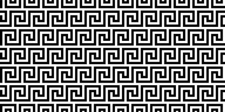 greek seamless pattern. old ancient ornament with key element. Abstract black and white geometric line. Vector background for the fabric cloth, fashion, ceramic floor, ornament textile, texture