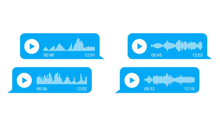 voice messages bubbles for social media chat. vector illustration asset 矢量图像