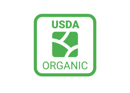 symbol usda for organic food. icon for package. vector illustration stamp