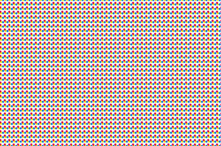 seamless offset digital print pattern. halftone dots texture. cmyk color background