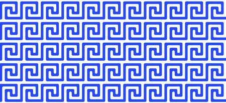 greek pattern. seamless old ancient ornament with key element. Abstract blue and white geometric line. Vector background for the fabric cloth, fashion, ceramic floor, ornament textile, texture