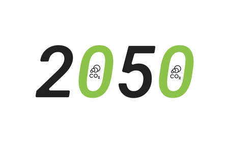 Carbon neutrality by 2050. Free neutral CO2 background. zero carbon emissions. Vector illustration 矢量图像