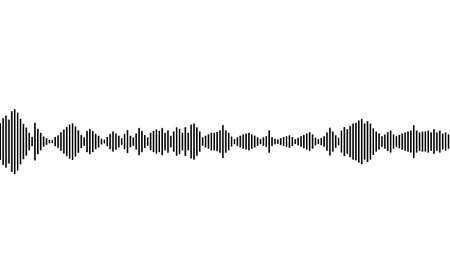 sound waveform pattern for music player, podcasts, video editor, voice message in social media chats, voice assistant, recorder. vector illustration element
