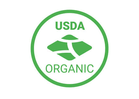 symbol usda for organic food. icon for package. green vector illustration