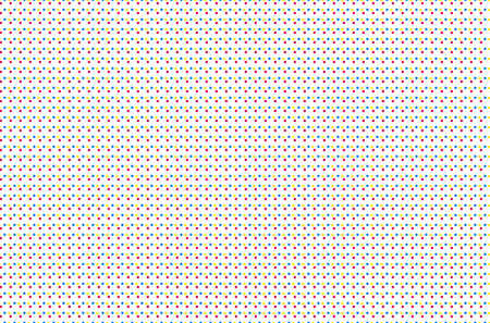 seamless offset digital print pattern. halftone dots texture. cmyk vector color background