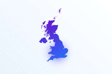 Map icon of United Kingdom. Colorful gradient map on light background. Modern digital graphic design. Light white backdrop vector illustration