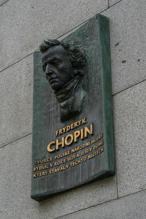 placa bacteriana: placa conmemorativa a Chopin