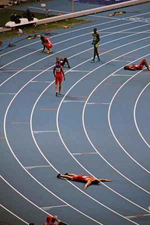 world championships: Group of athletes finished, XIV IAAF World Championships, Moscow, 2013
