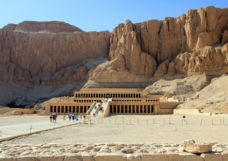 The Mortuary Temple of Hatshepsut. The west bank of the Nile near the Valley of the Kings.