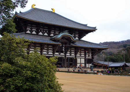 Great Buddha Hall of Eastern Great Temple in Nara, Japan.