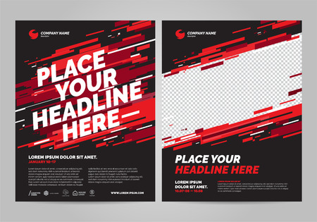 Poster design sports invitation template.