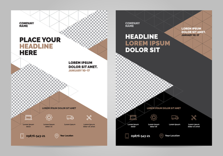 Brochure layout template, cover design background, annual reports. Can be adapt to Annual Report, poster, flyer, banner. Layout template in A4 size. Vectores