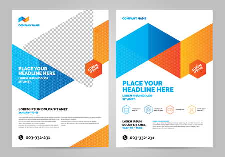 Geometry colorful Brochure Layout template, cover design background, annual reports. Can be adapt to Brochure, Annual Report, Magazine, Poster and banner.