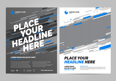 Brochure Layout template design. Can be adapt to Annual Report, Poster and Banner.