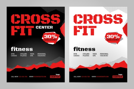 Vector layout design template for crossfit or other sport event.