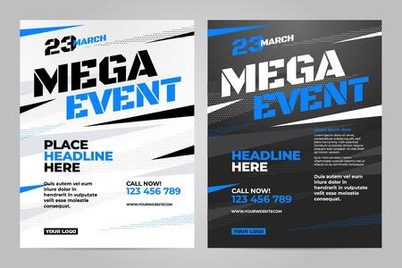 Vector layout design template for sport event. Illustration