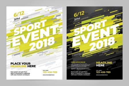 Sport event template design