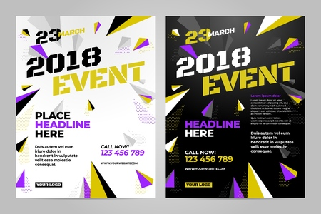 Vector layout design template for sport event. Stock Photo
