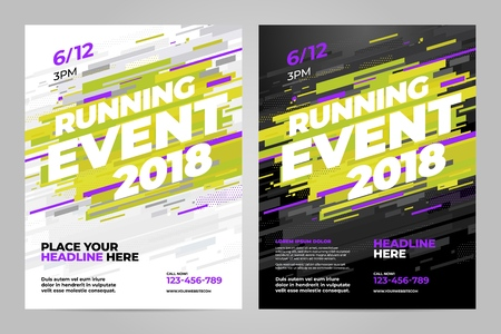Vector layout design template for running event or other sport event.