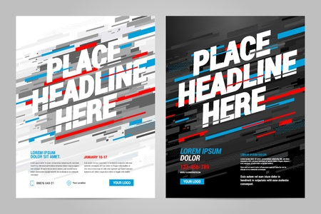 Layout design Sports invitation template. Can be adapt to Brochure, Annual Report, Magazine, Poster. Vectores
