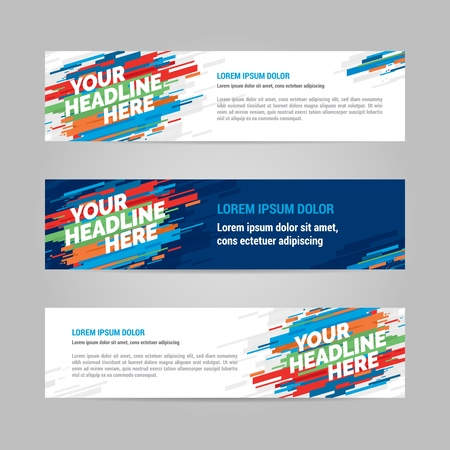 Web banner design sports invitation template. Can be adapt to Brochure, Annual Report, Magazine, Poster. Illustration