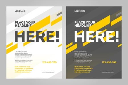 Modello di layout brochure, sfondo di copertina e relazioni annuali.