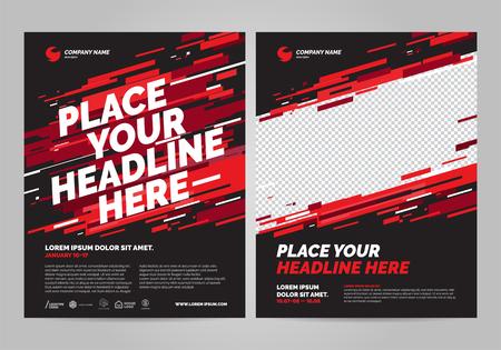 Plantilla de invitación deportiva de diseño de carteles. Puede adaptarse a Folleto, Informe anual, Revista, Póster. Foto de archivo - 101021543