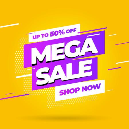 Sale banner template design, Big sale special offer. Vector illustration. Illustration