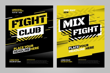 Layout design template for fight event or other sport event. Can be adapt to Brochure, Annual Report, Magazine, Poster. Illustration