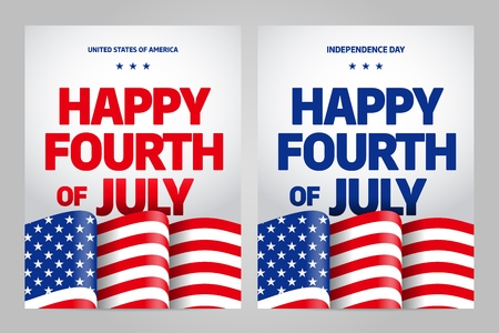 Happy independence day 4 th july, United states of america day. USA Иллюстрация