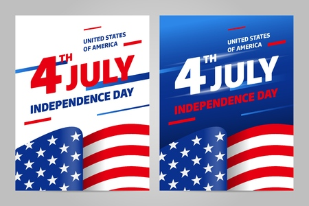Happy independence day 4 th july, United states of america day. USA Illustration