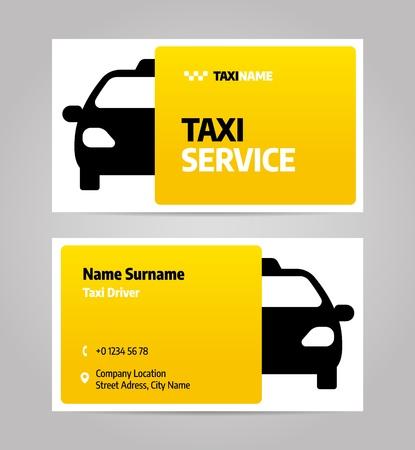 Negocio de taxis o tarjeta de visita. Plantilla de diseño de diseño vectorial para servicio de taxi.