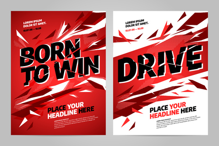 Vector layout design template for sport event, tournament or championship. Illustration