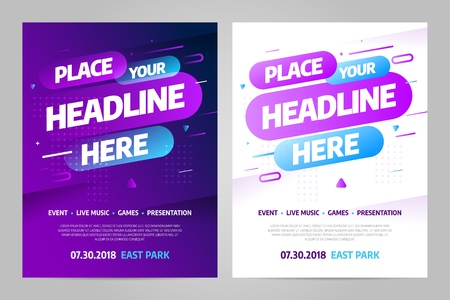 Vector layout design template for event. Eps10 vector.