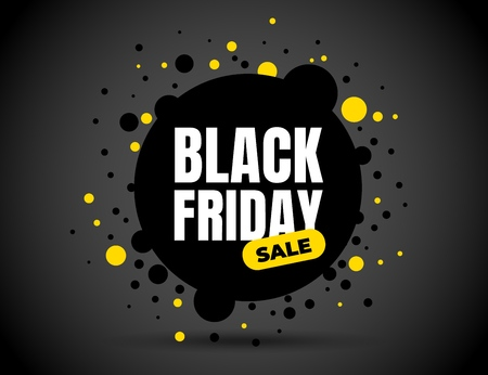 Black Friday sale inscription design template. Black Friday banner. Vector illustration.  イラスト・ベクター素材