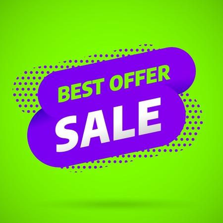 Sale banner template design, Big sale best offer. End of season. Vector illustration.
