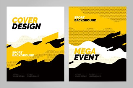 Template design with dynamic waves and lines for sport event, tournament or championship. Sport background. Фото со стока - 131933357
