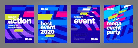 Template design with dynamic shapes for event, invitation or championship. Sport background.