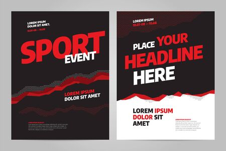 Template design for sport event, tournament or championship. Sport background.
