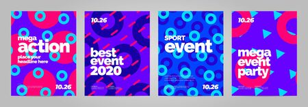 Poster template design for event, invitation or championship. Abstract background.