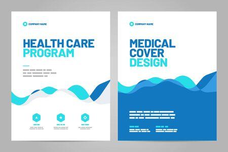 Conception de modèle avec fond abstrait pour la mise en page médicale. Conception vectorielle au format A4 pour affiche, flyer, couverture ou arrière-plan.