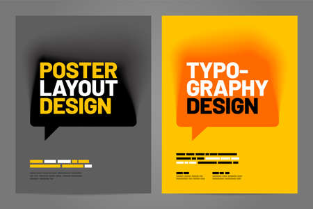 Template design with talk bubble for poster, flyer or cover.