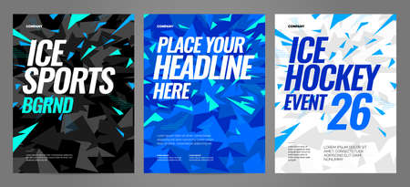 Blue layout design template for sport event, tournament or competition. Sports background.