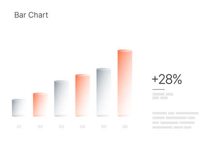 Infographic elements for business layout, presentation template and finance report. Data visualization with Bar Chart.