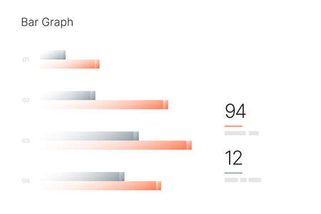Infographic elements for business layout, presentation template and finance report. Data visualization with Bar Graph.