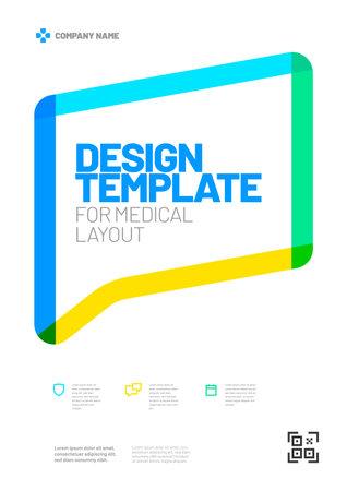 Design template with framed header for medical layout.